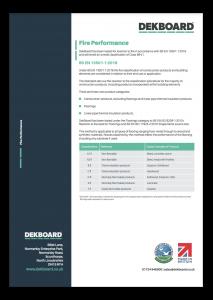 DekBoard Fire Classification - BS EN 13501-1 : 2018 thumbnail