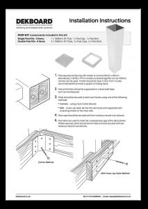 DekBoard Installation Sheet - Single & Double Post Kits thumbnail