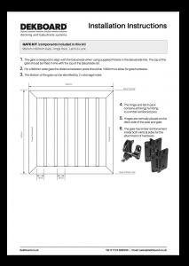 DekBoard Installation Sheet - Gate Kit thumbnail