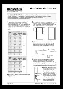 DekBoard Installation Sheet - 6ft & 4ft Kits thumbnail